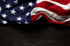 image of memorial  - American flag for Memorial Day or 4th of July - JPG