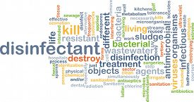 image of disinfection  - Background concept wordcloud illustration of disinfectant - JPG
