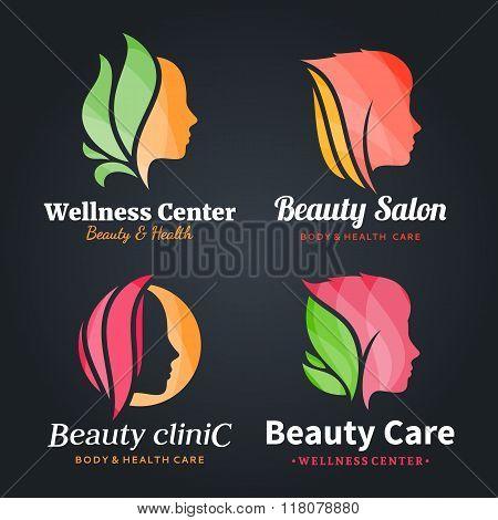 Beauty salon logo icons and design elements poster id118078880 beauty salon logo icons and design elements poster altavistaventures Images