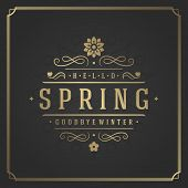Постер, плакат: Spring Vector Typographic Poster or Greeting Card Design