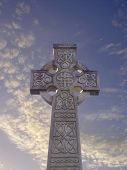 Celtic Cross With Sky