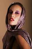 picture of pouty lips  - Beautiful young woman with makeup - JPG
