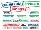 pic of top-secret  - varios security rubber stamps  - JPG