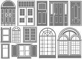Постер, плакат: двери и окна вектор