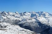 Beautiful Winter Mountains. European Alps
