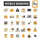 ������, ������: mobile banking icons mobile banking logo online banking icons vector online banking flat illustra