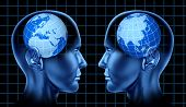 image of pacific rim  - Europe asia trade meeting face to face international trade global brain mind intelligence diplomacy - JPG