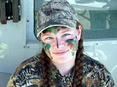 Cute Girl Hunting In Camouflage poster