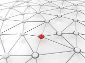 Concepto de red de conexión abstracta