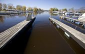 stock photo of winona  - Chippewa Valley Miinnesota Wisconsin Mississippi River Winona marina - JPG