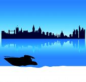 vector London silhouette skyline