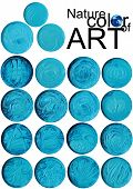 blue abstract button background