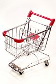 Shopping Trolley On White Background 8