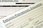 picture of performance evaluation  - this is a close up image of an employee performance evaluation - JPG