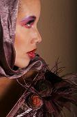 pic of pouty lips  - Beautiful glamourous woman model portrait - JPG
