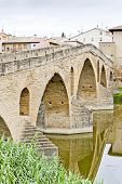 picture of gare  - romanesque bridge over river Arga - JPG