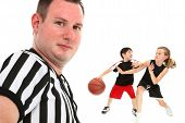 Close Up Children's Basketball Referee