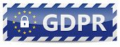 Gdpr - General Data Protection Regulation. Banner With Eu Stars And Padlock poster