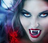 foto of gothic female  - Vampire - JPG