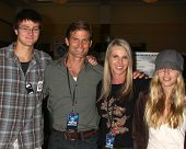 LOS ANGELES - JUL 16:  Casper Robert Mitchum Van Dien, Casper Van Dien, Catherine Oxenberg, daughter at the Hollywood Show at Burbank Marriott Convention Center on July 16, 2011 in Burbank, CA