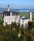 Neuschwanstein Castle In Autumn, Bavaria, Germany