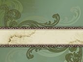 Grungy Victorian vintage banner, horizontal