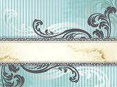 Silver Victorian vintage banner