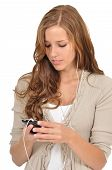 Young Woman Surfing The Web With A Smartphone