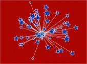 patriotic star sunburst