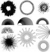 vector burst design elements