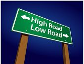 stock photo of immoral  - High Road - JPG