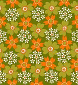 floral seamless tiled pattern illustration