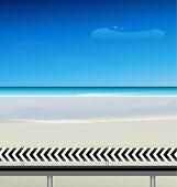 vector Summertime at the beach, sea