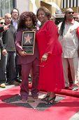 LOS ANGELES - MAY 19:  Chaka Kahn & Mother Sandra at the Chaka Kahn Hollywood Walk of Fame Star Ceremony at Hollywood Blvd on May 19, 2011 in Los Angeles, CA