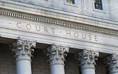 image of judiciary  - The words Court House outside the Supreme Court - JPG