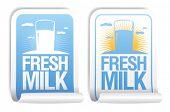 Fresh milk stickers.