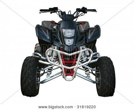 Black Suzuki quadbike isolated on