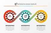 Infographic Design Template. Creative Concept With 3 Steps. Can Be Used For Workflow Layout, Diagram poster
