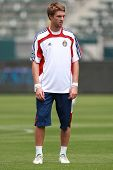 CARSON, CA. - APRIL 10: Chivas USA M Blair Gavin #18 before the Chivas USA vs New York Red Bulls mat