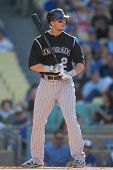 LOS ANGELES - MAY 30: Colorado Rockies SS Troy Tulowitzki #2 during the MLB game between the Colorad