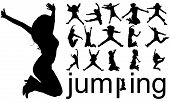 Sillhouettes Jumping