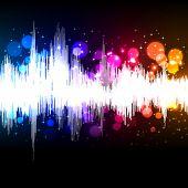 waveform music vector background