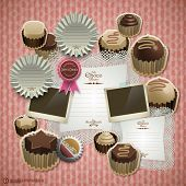 Vector Retro Scrapbook Element for Chocolate Diary