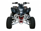 Black Suzuki quad-bike isolated on white