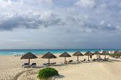 A Glance At Caribbean Beach In Cancun poster