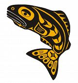 Native fish Vector