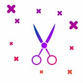 Color Scissors Hairdresser Icon Isolated On White Background. Hairdresser, Fashion Salon And Barber  poster