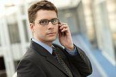 Atractive Businessman With Phone