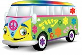 Happy Hippie-Bus
