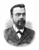 Mikhail Sergeyevich Korelin (1855-1899) - Russian historian.  Engraving by  Shyubler. Published in m